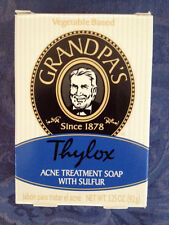 GRANDPA'S Thylox ACNE Rosacea TREATMENT SULFUR Soap NEW