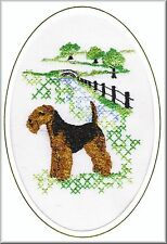 Welsh Terrier Birthday Card  Embroidered by Dogmania