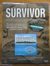 2000 Official Soundtrack to the Hit CBS TV Series SURVIVOR Jeff Probst Poster