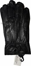 Men's Gloves. Size XXL Leather Gloves. Winter gloves, warm Black leather Gloves