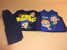 Bubble Guppies Toddler Boy Outfit Set Long Sleeve Shirt Jeans Vest 5T New