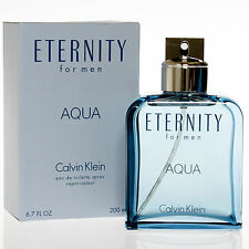 ETERNITY AQUA by Calvin Klein 6.7 oz edt Cologne Spray for Men * New In Box