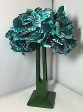 Vintage 1960's Blue Flower Flowery Hat Bermona Hats Retro