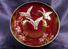 Carlton Ware England Flying Mallard Rouge Royale Hand Painted Console Bowl