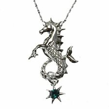 Poseidon's Steed Sterling Silver 925 Seahorse Pendant Necklace Anne Stokes Mythi