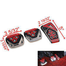 3 x Gear Brake Gas Clutch Non-Slip Foot Pedal Pad Covers for Acura Honda Nissan