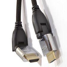 RUOTA GIREVOLE 3m Intrecciato Cavo HDMI 4k 2k supporta 3d Arco & Ethernet [008089]