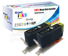 2 Black CHIPPED Generic Ink Cartridge 364XL for Officejet 4620 4622 NON OEM
