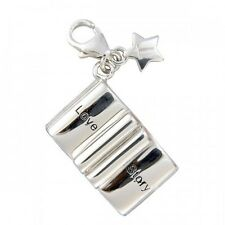 Tingle London Sterling Silver & Enamel Love Story Book Clip-on Charm SCH76