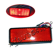 Motorcycle Red LED Reflector Brake Tail Rear Fog Light For Honda Kawasaki 12V