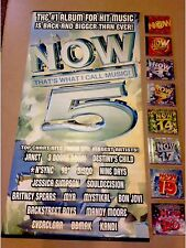 NOW That's What I Call Music PROMO POSTER, 8 CD Collection 152 SONGS & STICKER