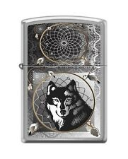Zippo 0415 Wolf & Indian Dream Catcher Brushed Chrome Full Size Lighter