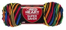 Red Heart Super Saver Yarn Primary Stripes Acrylic 5oz