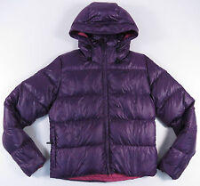 NIKE PURPLE HOODED WOMENS PUFFER POLYFILL JACKET ACG WINTER SNOW SKI EUC S