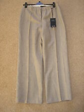 M&S SIZE 14S PREMIUM PURE LINEN TROUSERS. TAUPE. NEW WITH TAGS