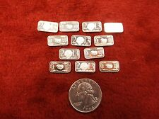 #3 of 4, 12 x .999 PURE FINE SILVER 1 GRAM INGOTS / BARS, 2013 YEAR OF THE SNAKE