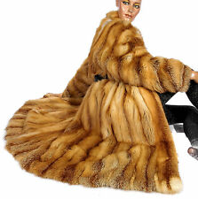 L Vintage kanadischer Rotfuchs Mantel Pelzmantel canadian red fox fur coat Fuchs