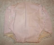Vintage Pink Baby Diaper Cover Plastic/Rubber Pants by Hollywood Needlecraft Lg