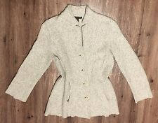 Eileen Fisher Gray Boiled Wool Cardigan sz XS - S