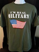 WWE I'M REAL MILITARY Wrestlemania 21 T-Shirt Tee Men's Size Large
