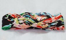 Baby Girl Toddler Celtic Knot Twist Cotton Head Band BLACK MULTI ~ Fast Ship USA