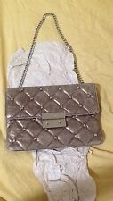 Michael Kors Leather   Sloan Stud Silver Clutch  NWT $279