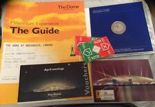 Millenium Dome Ephemera, £5 Millenium Minted Coin,Guide Book,Ticket,Post Card784
