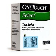 Onetouch Select 50 Test Strips of OneTouch Select Glucometer |Expiry 11/2017
