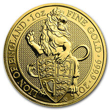 2016 1 oz Gold British Queen's Beast Coin The Lion Brilliant Uncirculated BU