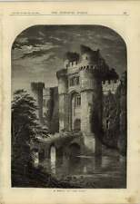 1876 Ruined Castle Moat Relic Of The Past