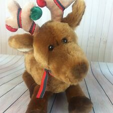 Gund Reindeer Plush Toy Doll Christmas RIDLAY Rudolph Ornaments Antlers Euc