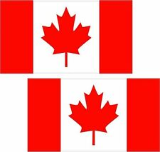 "2 - 3"" x 1.8"" Canada Flag Decal SET Canadian Maple Leaf Vinyl Car Bumper Sticker"