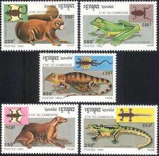 Cambodia 1993 Frog/Lizard/Squirrel/Lemur/Reptiles/Animals/Nature 5v set (b757)