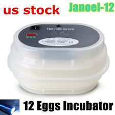 Digital 9-12 Eggs Incubator Poultry Full Automatic Turner Quail Duck+Free Candle