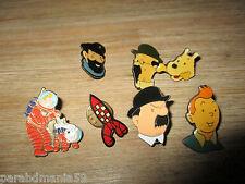 Hergé-Lot anciens pins Coinderoux corner&autres-Tintin lune,fusee.......