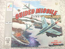 Vintage Guided Missile Air Force Game 1960s Retro Board Game with Spinner