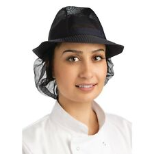 Trilby Hat with Snood Navy Blue Chef Clothing Cooking Lightweight Hat Size Small