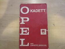 1969 Buick Opel Kadett Owner's Manual & Dealers Listing
