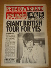 SOUNDS 1973 AUG 5 YES BOB DYLAN MR FANTASY BOWIE