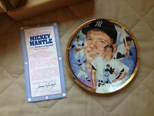 Mickey Mantle Gold Trimmed Collector Plate 1992 P294