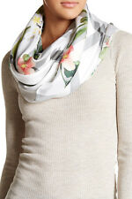 TED BAKER LONDON NEW SECRET TRELLIS SILK SQUARE SCARF FLORAL NWT $159