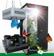 100w COB LED Watering System Grow Tent 1x1x2m Grow Light Hydroponics Setup Kit