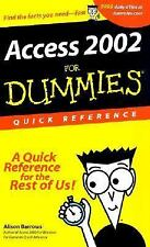 Access 2002 For Dummies Quick Reference by Barrows, Alison