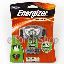 Energizer HDL33A 3 LED White & Red W 3x aaa Battery Headlight Flashlight Lamp