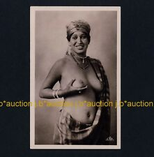 N Africa BUSTY NUDE ARAB /  NACKTE ARABERIN * Vintage 1940s Ethnic Photo PC