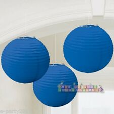 ROYAL BLUE PAPER LANTERNS ~ Birthday Party Supplies Wedding Bridal Decorations