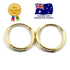 GENUINE STAMPED 14K SOLID YELLOW GOLD ANTI-ALLERGY SLEEPERS HOOP EARRINGS - Pair