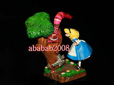 Yujin Disney Cinemagic Paradise Alice in Wonderland Cheshire Cat & Alice figure