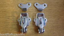 2 x ZINC PLATED PADLOCK TOGGLE CASE CATCH CATCHES BOX LOCKABLE A440-01