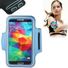 Tasche Armband Joggen Laufen Fitnessband für Samsung Galaxy S3 S4 S5 Hellblau